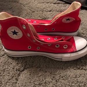 Red Converse Shoes Size 6